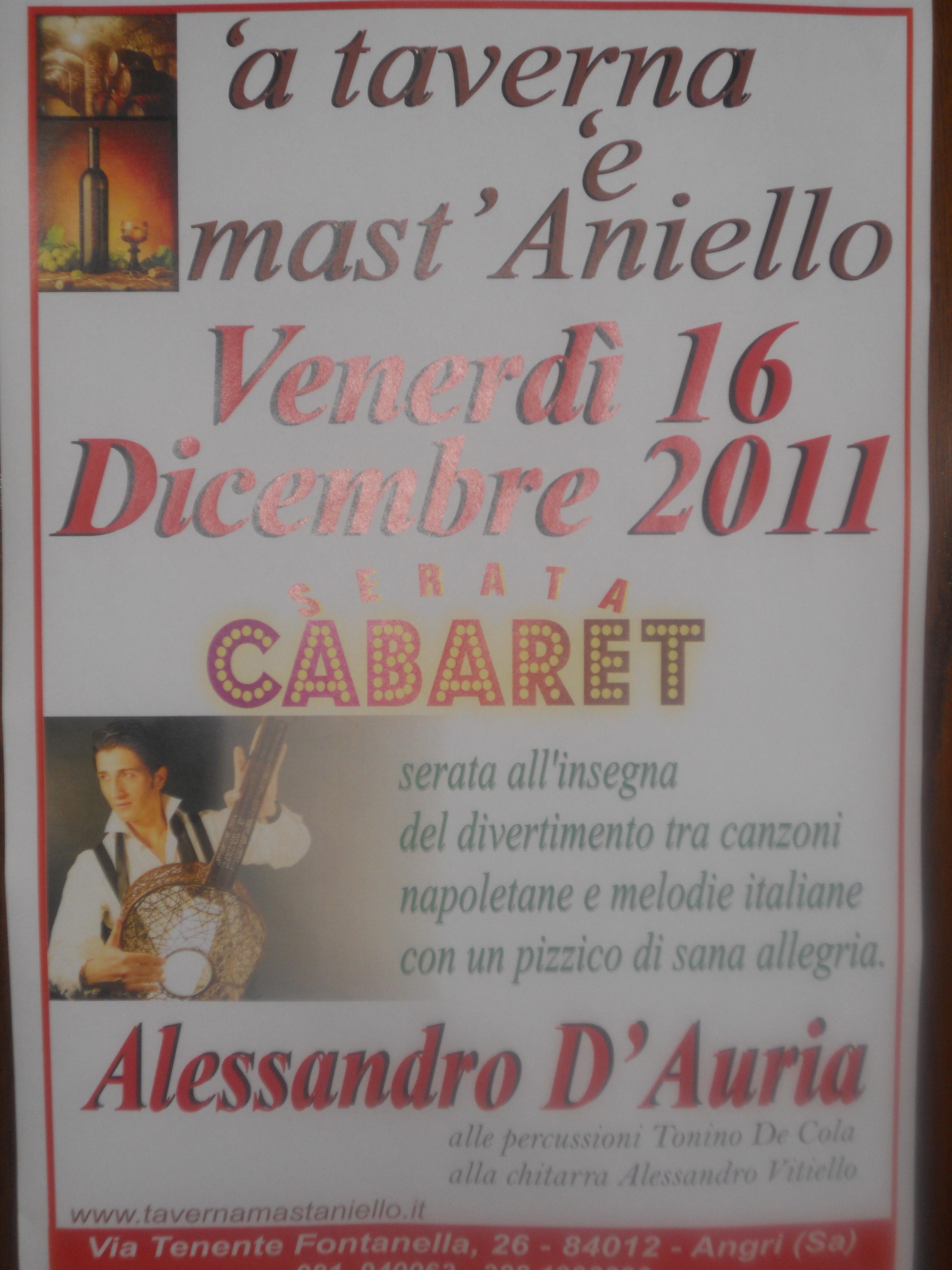 16 dic.  ALESSANDRO D'AURIA