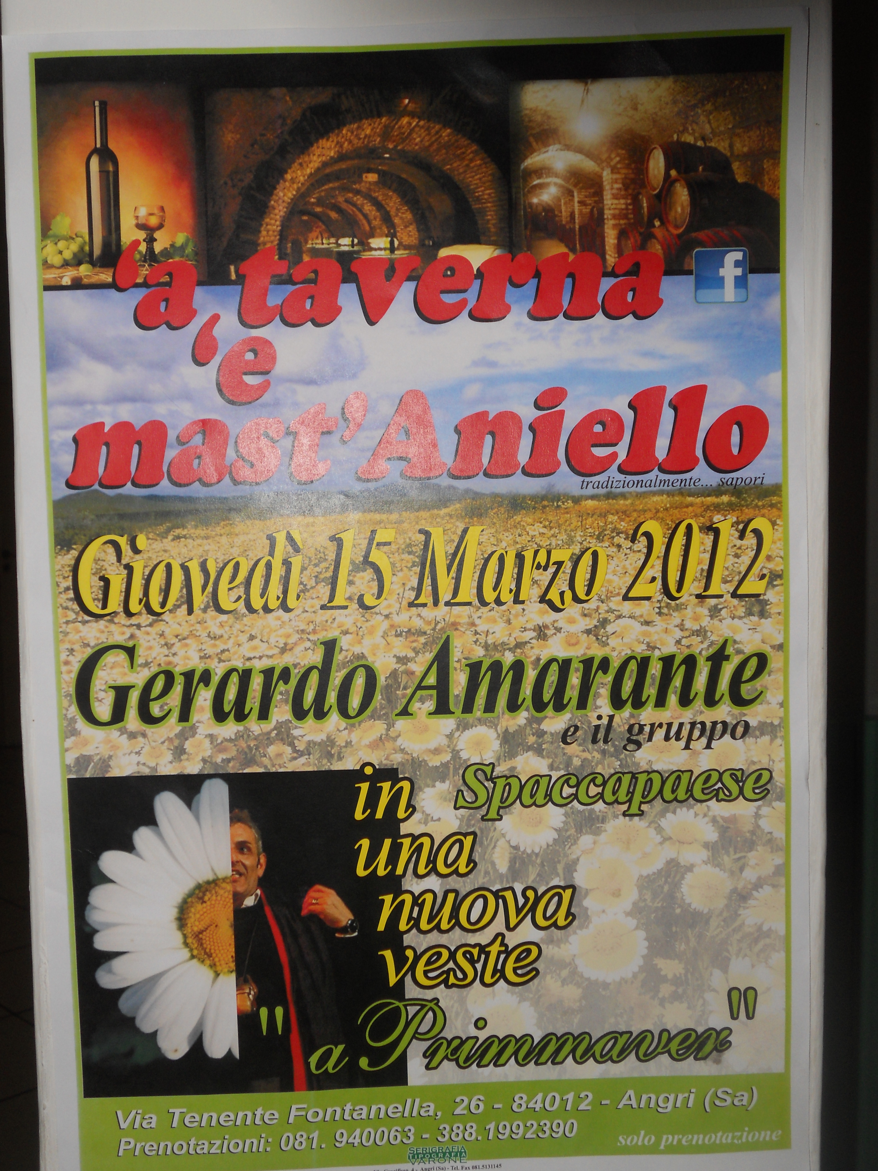 SPACCAPAESE - GERARDO AMARANTE cena-spettacolo
