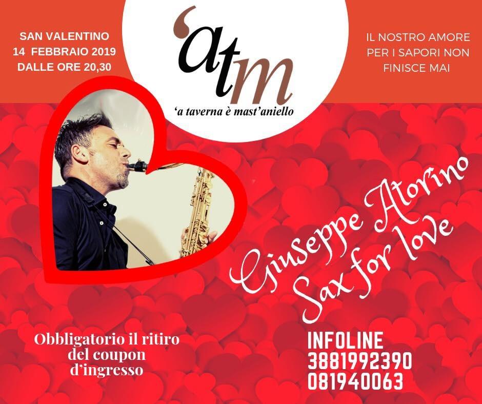 Sax for Love. San Valentino con il sound di Giuseppe Atorino